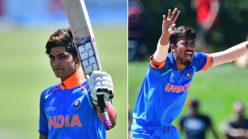 Shubman Gill (left) and Ishan Porel's (right) effort helped India to register a big win against their Asian neighbours and arch-rivals. (Photo: AP)