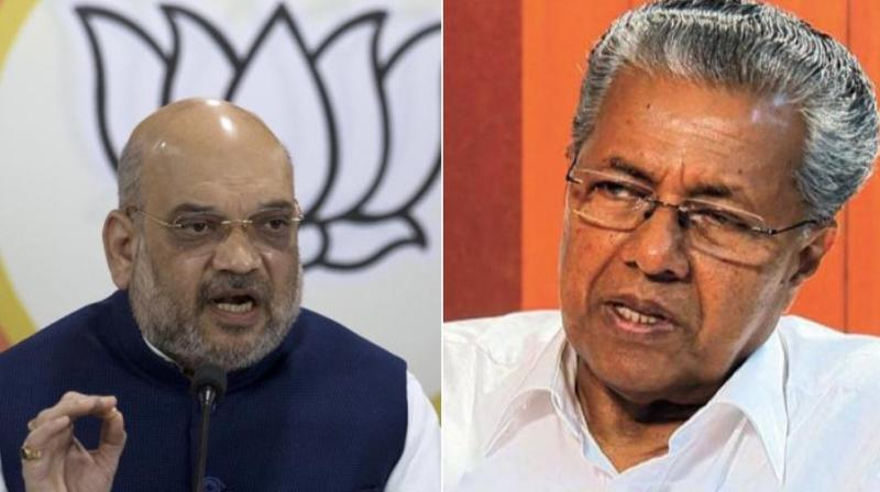 Kerala Chief Minister Pinarayi Vijayan mocked at Amit Shah, saying his 'strength' won't be enough to pull down the Kerala government led by the CPI-M. (Photo: File)