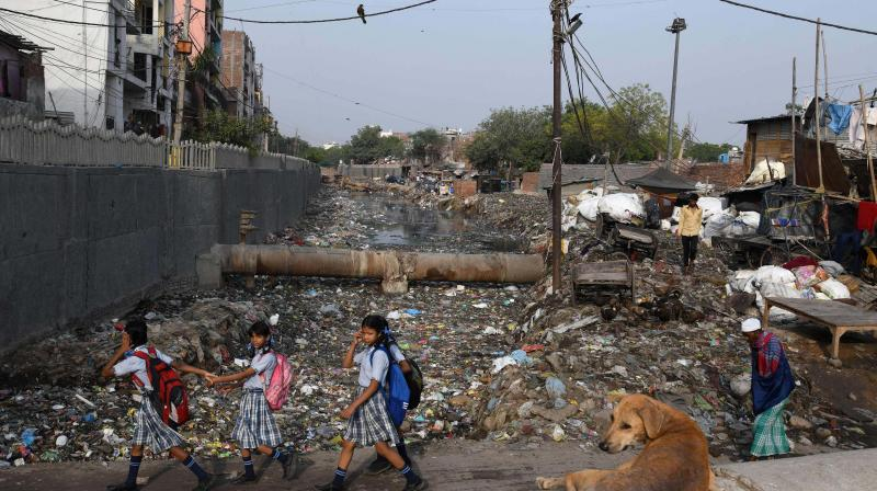 Three labourers died of suffocation while cleaning the sewage treatment plant (STP) of a housing complex here shortly after midnight Friday, civic officials said. (Representational Image)