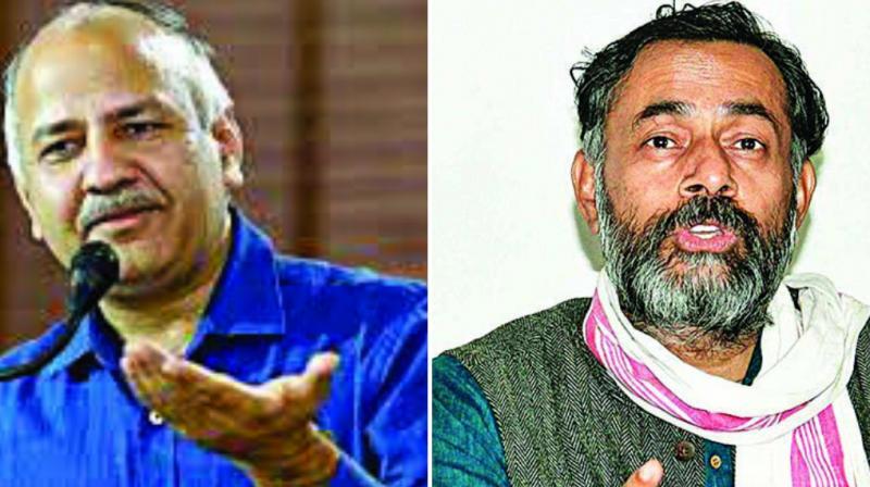 Manish Sisodia and Yogendra Yadav
