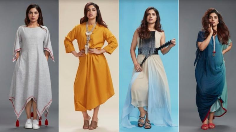 Here are the Indo-Western looks sported by Bhumi Pednekar.