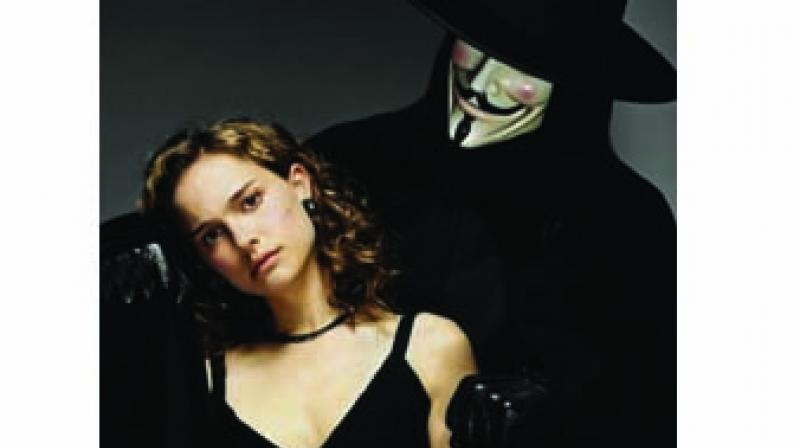 A still from  V for Vendetta
