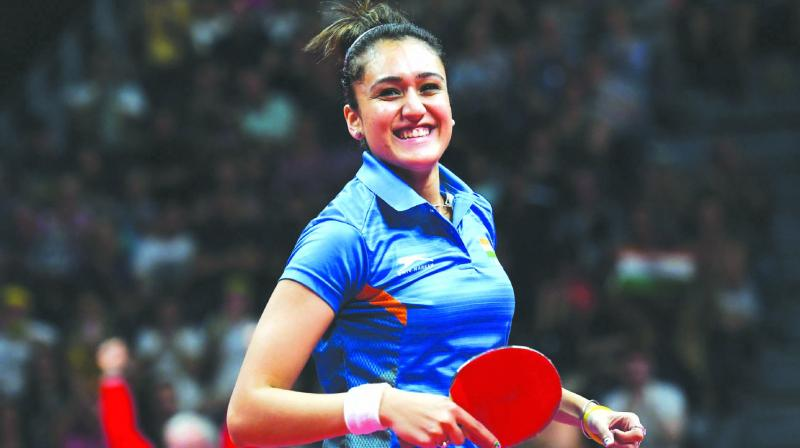 Manika Batra was India's most successful athlete at the Commonwealth Games picking up four medals. (Photo: AFP)