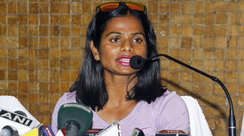 Dutee, who has been hailed for her revelation, is facing a tough battle of acceptance in her family. (Photo: PTI)
