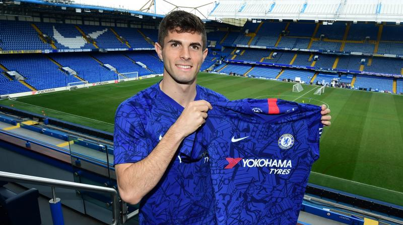 'It's one of my biggest dreams to be here and play in the PL. To be a Chelsea player is a huge honour,' said Pulisic. (Photo: Chelsea FC/Twitter)