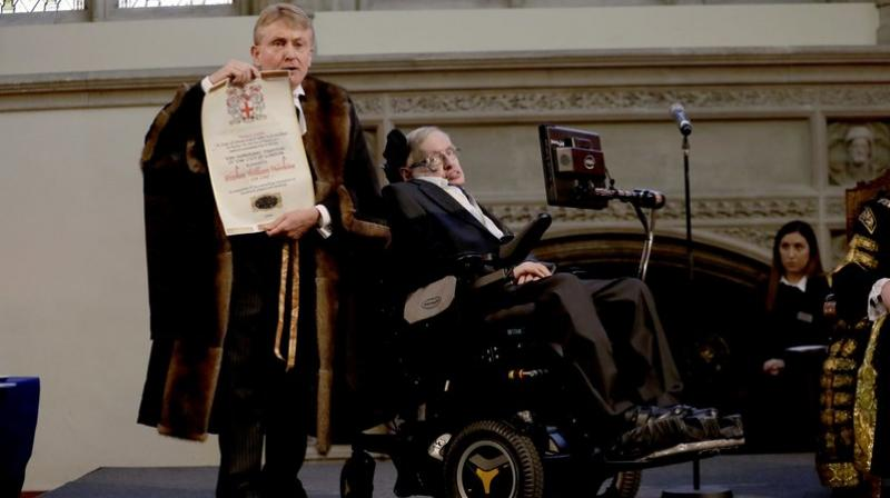 Famed for his work exploring the origins of the universe, Hawking died in March at the age of 76 after spending most of his life confined to a wheelchair with motor neurone disease.