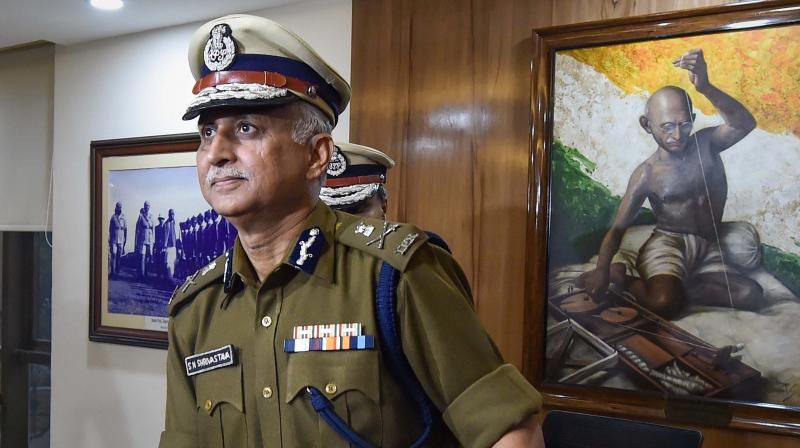 Delhi Police Special Commissioner SN Srivastava takes charge as the new Police Commissioner of Delhi at New Police Headquarters, in New Delhi. PTI photo