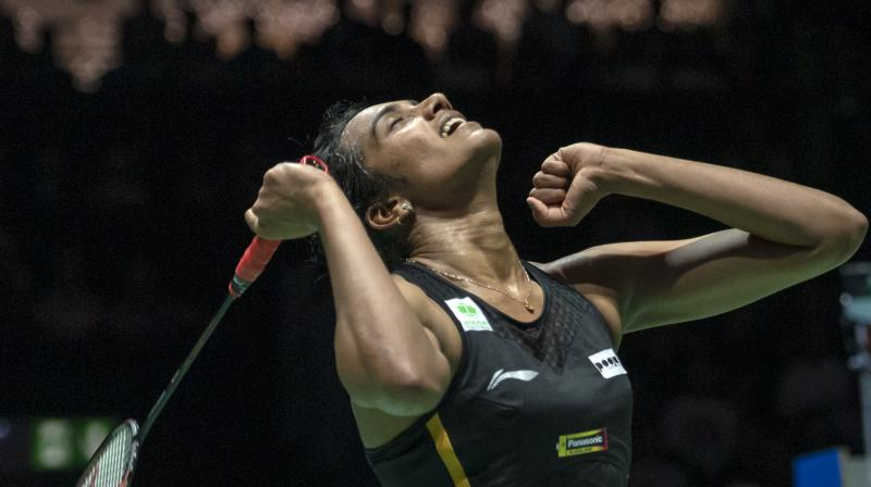 Sindhu credited her coaches for the performance and dedicated the win to her mother P Vijaya. (Photo: AP)