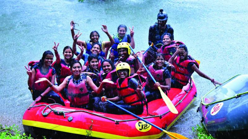 Women are embracing adventure and braving the rapids