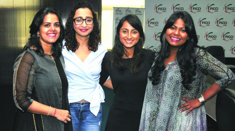 (L-R) Neha Kirpal, Priyanka Gill, Richa Kar and Kanika Tekriwal (Photo: Bunny Smith)
