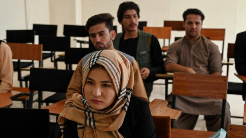 The Taliban said last week that schooling should resume but that males and females should be separated. (AFP file photo)