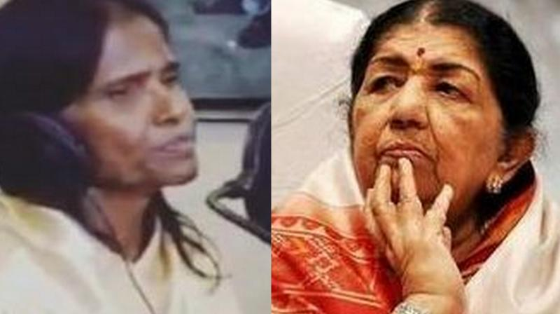 Ranu Mondal and Lata Mangeshkar. ( Photo Source: Instagram)