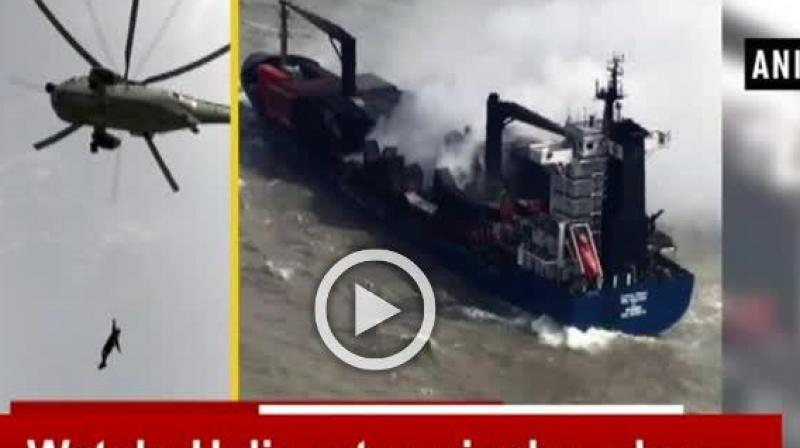 The container ship had been burning at sea since June 13 night. It also released some photos to substantiate the presence of smoke.
