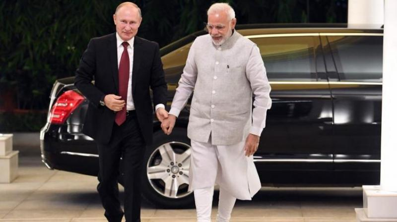 Prime Minister Narendra Modi and Russian President Vladimir Putin (Photo: AP)