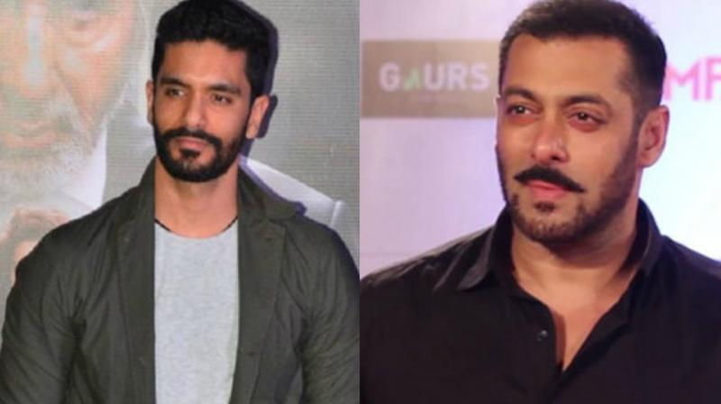 It's the first time that Salman Khan and Angad Bedi are sharing screen space on the big screen.