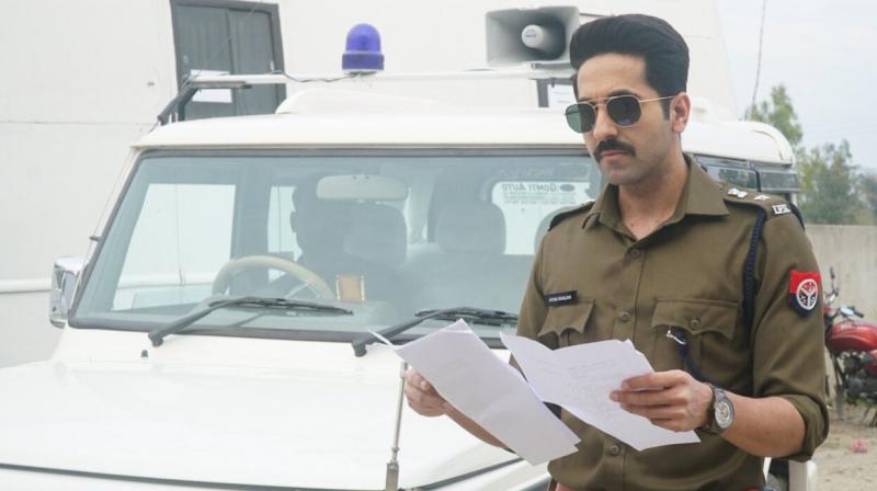Ayushmann Khurrana's look as cop. (Photo: Twitter)