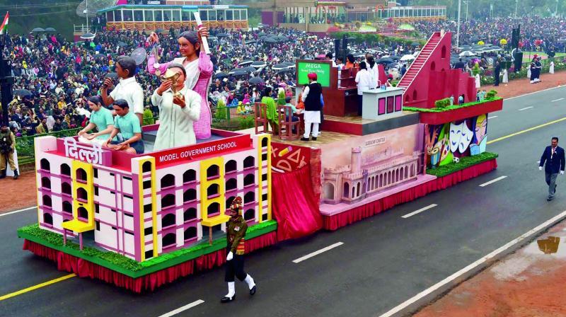 Delhi tableau is back after three years, focus on schools