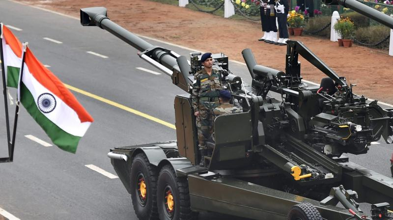 DRDO's Advance Towed Artillery Gun System (ATAGS) being displayed at Rajpath during the 68th Republic Day Parade in New Delhi. (Photo: PTI)