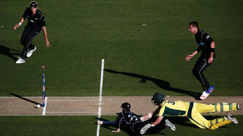 Kane Williamson dismissed Josh Hazelwood to win the match for New Zealand. (Photo: ICC)