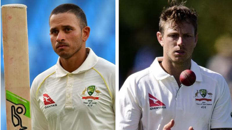 Usman Khawaja passed a fitness test on Monday after recovering from a hamstring injury and Langer confirmed the left-hander will bat at number three, while fast bowler James Pattinson is set to feature in his first test match since Feb. 2016. (Photo:AFP)