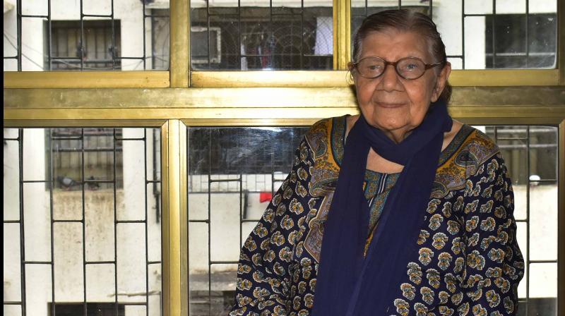 Rama Mehta (Khandwala) at her residence in Mumbai