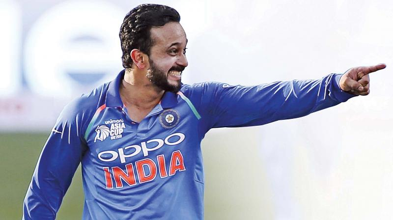 When it comes to street smartness, there are few in the current Indian team's limited-overs set-up, who can match Kedar Jadhav's on-your-feet thinking. (Photo: AP)