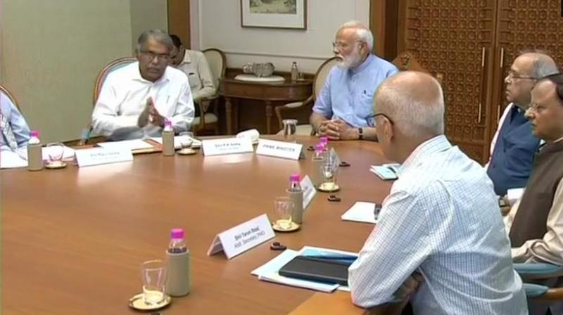 The meeting was attended by Cabinet Secretary, Principal Secretary to the PM, Additional Principal Secretary to the PM, the Home Secretary and other senior officials from IMD, NDRF, NDMA and PMO etc. (Photo: ANI | Twitter)