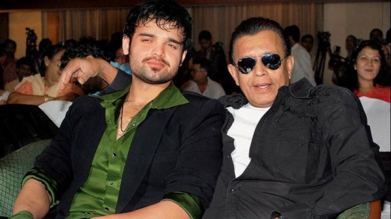 Mithun Chakraborty and his son Mahaakshay. (PTI File)
