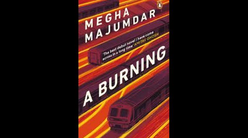 Cover of 'A Burning' by Megha Majumdar.