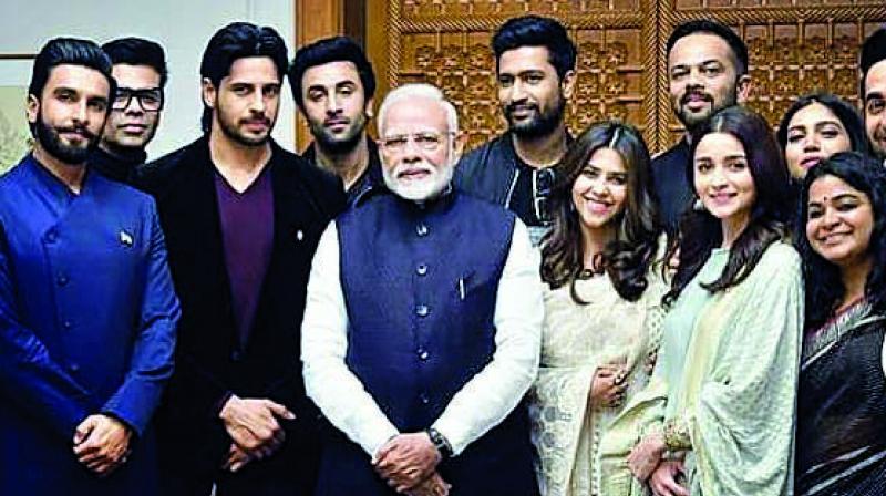 Bollywood delegates with Prime Minister Narendra Modi