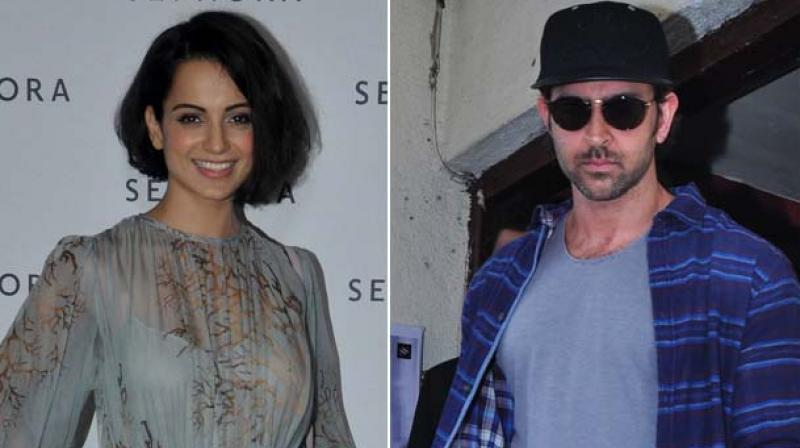 Kangana and Hrithik had worked together in 'Krrish 3'.