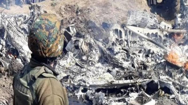 Apart from the officer in the ATC, one officer in the air defence of the air base is likely to be court-martialed for the crash of its Mi-17V5 chopper near Srinagar on February 27. (Photo: ANI)