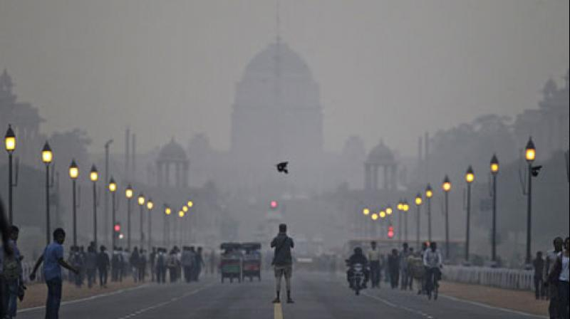 The air was fully concentrated with moisture with the Met department recording 100 per cent relative humidity at 8:30 am. (Photo: Representational/AP)