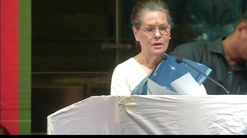 Sonia Gandhi on Thursday sternly took up to all the ongoing bickering factors of Madhya Pradesh unit of the party and asked them to sort out their differences. (Photo: File | ANI)
