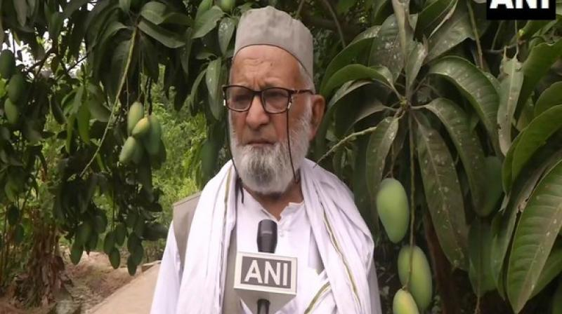 He said that these new variety mangoes will soon ripen and the variety with similar characteristics to that of the minister would be given his name. (Photo: ANI)