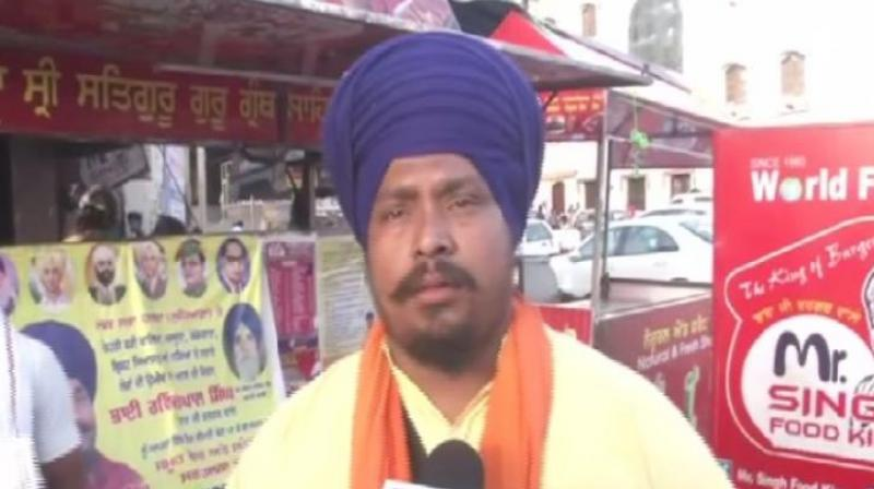 While 30-year-old Ravinder Pal Singh who owns the popular 'Baba Ji Burger Wale' is contesting from the Ludhiana Lok Sabha seat. (Photo: ANI)