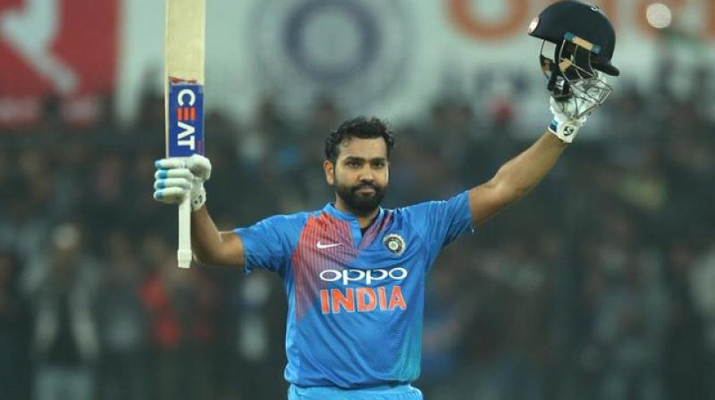 India opener Rohit Sharma scored the joint-fastest hundred in the T20I against Sri Lanka on this day in 2017. (Photo:Twitter)