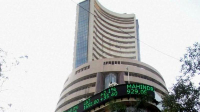 rose by 202 points to close at a fresh record high while the Nifty ended above the 11,700-mark  after global markets rejoiced a US-Mexican deal