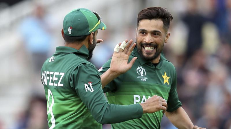 That first over was a maiden and Amir bowled two in a four-over spell in which he conceded a mere 11 runs. (Photo: AP)