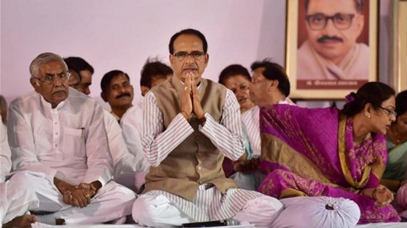Madhya Pradesh Chief Minister Shivraj Singh Chouhan had gone for a fast after farmers were killed in the state in police firing (Photo: PTI)