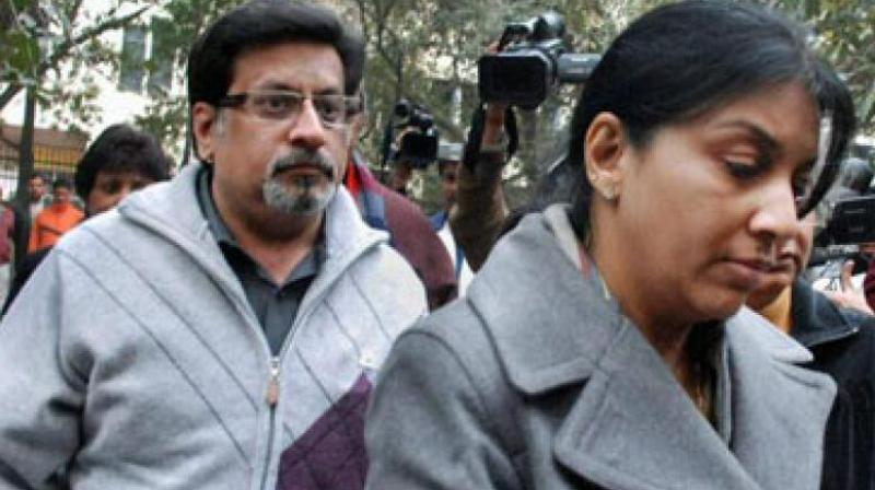 File photo of dentist-couple Nupur Talwar and Rajesh Talwar, who were on Thursday acquitted by the Allahabad High Court in the twin murder case of their daughter Aarushi and domestic help Hemraj.  (Photo: PTI/File)
