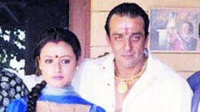Namrata Shirodkar and Sanjay Dutt