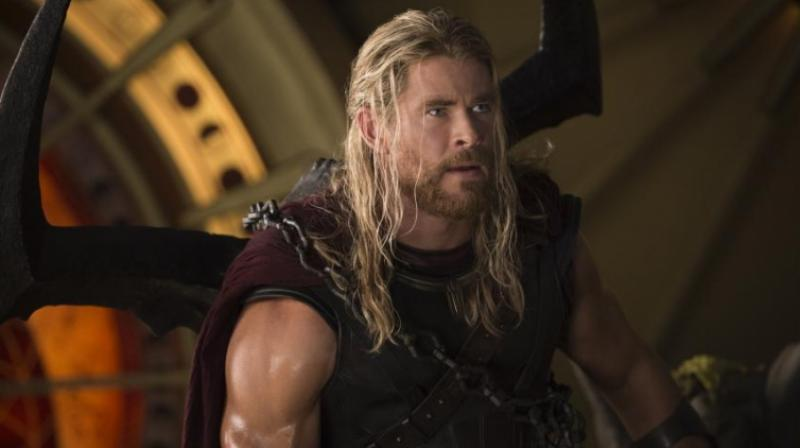 Chris Hemsworth in a still from 'Thor: Ragnarok.'