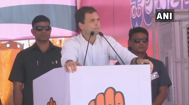 Mocking the prime minister's 'main bhai chowkidar' (I too am watchman) campaign, Congress chief Rahul Gandhi on Monday said Narendra Modi has turned the whole country into 'chowkidars' after getting caught. (Photo: Twitter/ ANI)