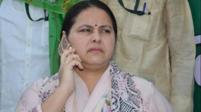RJD chief Lalu Yadav's daughter and Rajya Sabha MP Misa Bharti. (Photo: PTI)