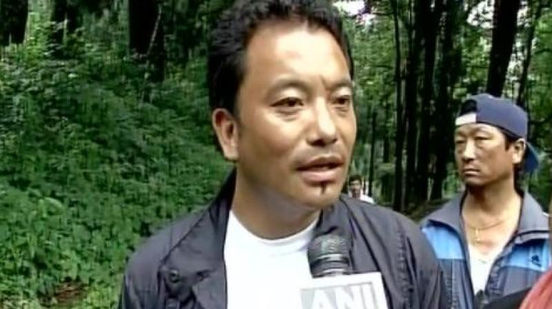GJM Yuva Morcha President Prakash Gurung (Photo: Twitter | ANI)