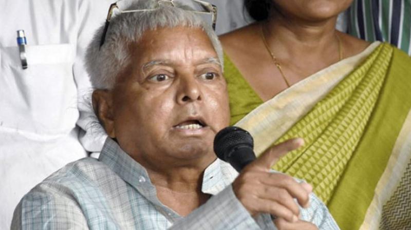 Rashtriya Janata Dal (RJD) chief Lalu Prasad Yadav (Photo: File)