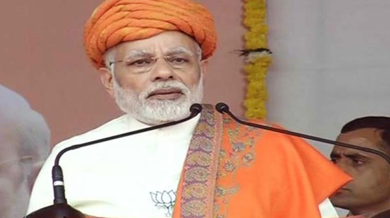 Modi further added, 'Now Congress is linking Ram Mandir with elections. They are least bothered about the nation.' (Photo: ANI)