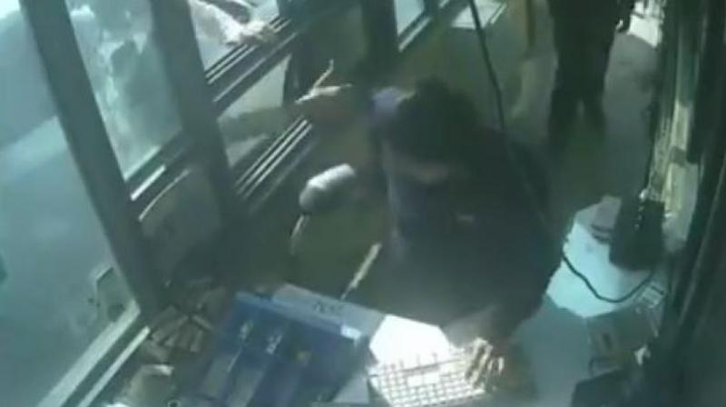 Thursday's incident comes weeks after a woman toll collector was allegedly molested by unidentified men there. (Photo: ANI videograb)