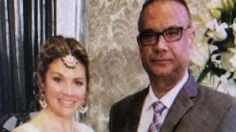 Khalistani terrorist Jaspal Atwal posed with Canadian Prime Minister Justin Trudeau's wife Sophie Trudeau at an event in Mumbai. (Photo: ANI)